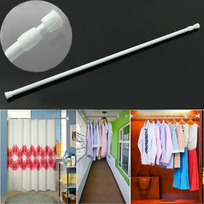Spring Extendable Curtain Rods Pole Tension Door Shower Home Hanger Adjustable