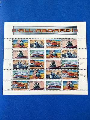 US33c All Aboard Stamp Sheet Mint Never Hinged -  Free Postage!