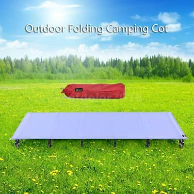 Ultralight Portable Folding Camping Cot Bed Outdoor Sleeping Bed Aluminum Y4O7