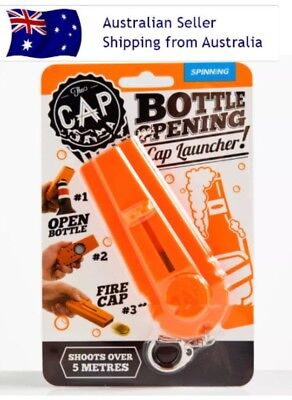 Flying Cap Zappa Bottle Opener Cap Launcher Fancy Beer Openers Shooter Key Ring