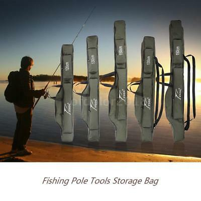 Folding Fishing Rod Carrier Canvas Pole Tools Storage Bag Case Gear Tackle A0B1