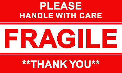 ツ 50 X Please Handle With Care Fragile Thank You Label Stickers