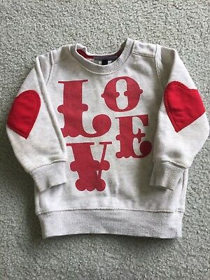Rock Your Baby Kid girls sz 2 Love vintage jumper 2013