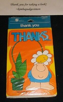 """Tom Wilson ZIGGY """"Thanks...You brightened my day""""  8 pk note cards"""