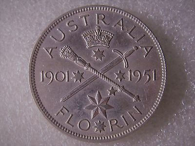 Florin  1951  Commemorative   50%  Silver   1  Coin