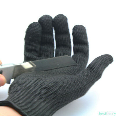 1pc Steel Wire Fishing Fillet Glove Anti-cutting Thread Weave protector Glove QX