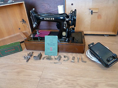 Singer 99K, 9th Feb 1955 Electric Sewing Machine + Case & Extras & Serviced