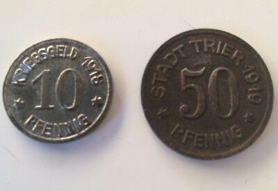 2 Germany Notgeld Coins