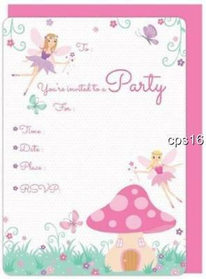 16 x Fairy Party Invitations with Envelopes...