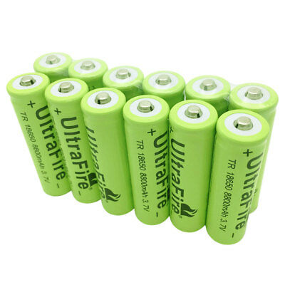2/4/6/8/10 x 18650 8800mAh 3.7V Li-ion Rechargeable Battery for Flashlight Torch
