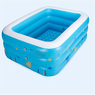 130Cm* 90Cm Baby Children's Inflatable Thick Family Swimming Fun Pool Bathtub