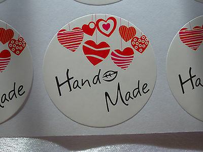 30 Hand made Love Label Sticker Seal Bonbonniere Favour Craft Gift Card Wedding