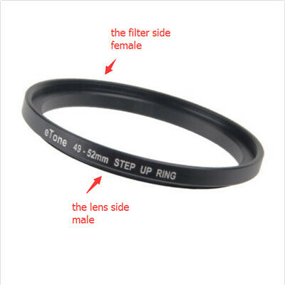 eTone New 49-52mm Step Up Metal Lens Filter Ring Adapter 49mm to 52mm Accessory