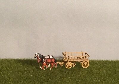 N Scale Horses & Wagon for layouts.