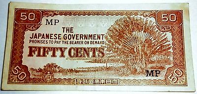 Japanese Fifty cents bank note