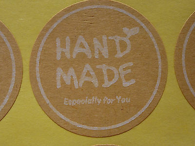 36 Hand made for you' Label Sticker Seal Bonbonniere Favour Craft Gift Card