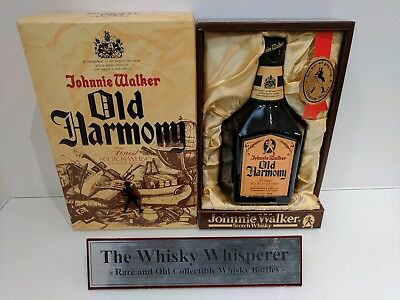 JOHNNIE WALKER 750ml Old Harmony Scotch Whisky bottle In  Coffin Box