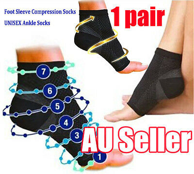 1 pair Foot Sleeve Plantar Compression Socks Support Swelling Heel Ankle Hot bBO