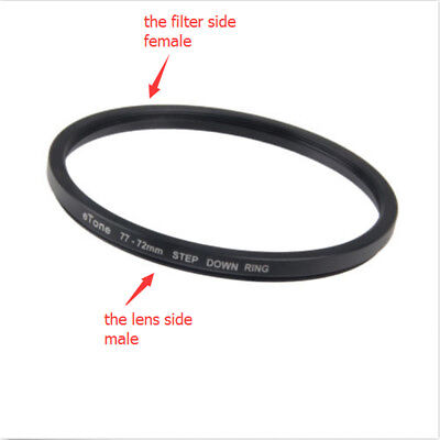 eTone 77-72mm Step Down Filter Ring Adapter 77mm Lens to 72mm Metal Accessory