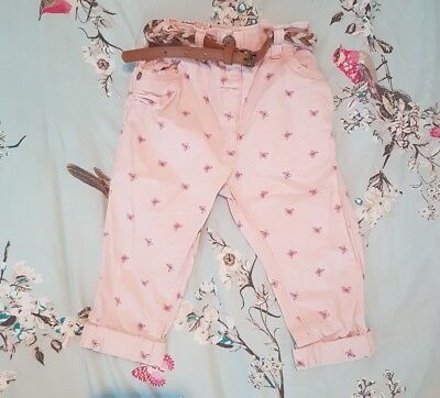 Baby girls Next butterfly trousers9-12 months