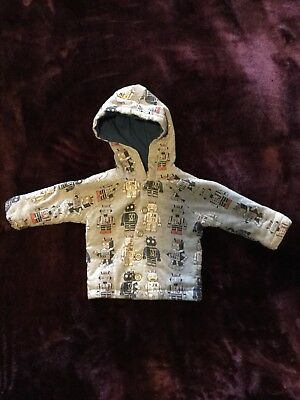 Jack and Milly Gorgeous Robot Winter Baby Jacket Size 000 - VGUC!