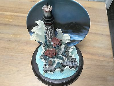 Lighthouse Collector Plate with Figure Guiding Force #1 Shining Sentinels 2001