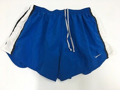 Nike Dri-Fit Shorts Women's Size Large Blue White Active Fitness Workout Running