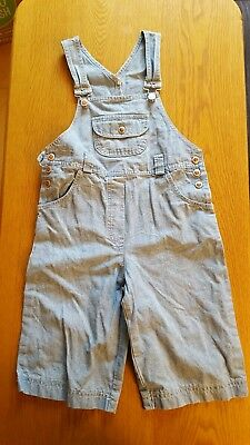 vintage denim dungarees age 7-8 years from Next