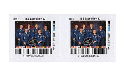 Privatpost Space 2x  Biberpost 0,60€ ISS- Expedition 52 mit Whitson 2017