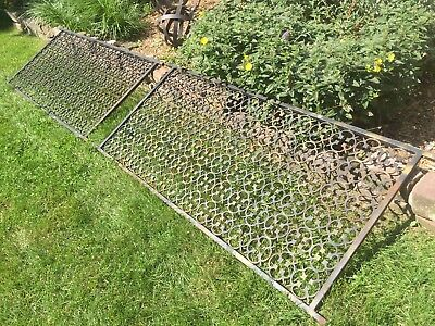 "Qty 2 Large Wrought Iron Railings ~ 75""x34.5"" ~ Western New York"