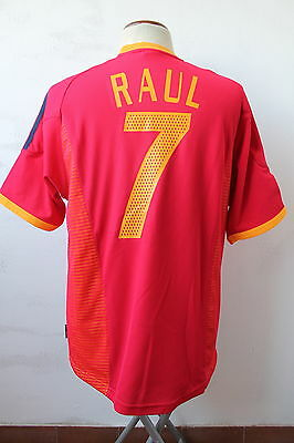 Maglia Calcio Adidas Shirt Football Espana Spain Spagna No Match Worn 2002 Raul