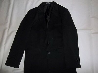 Boys IZOD Black 8% Wool BLAZER JACKET Size 16 R Regular Dress Suit Coat