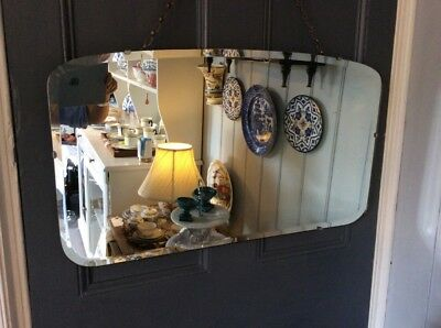 VINTAGE 1950's HANGING WALL MIRROR