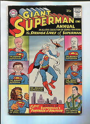 DC Comics Superman Annual  #3 80 Page Giant Silver Age Comic  F/VF 1960's