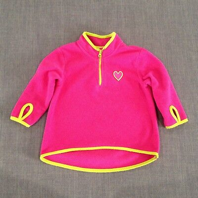Girls Pink Fleece Jumper GUC, Size 1