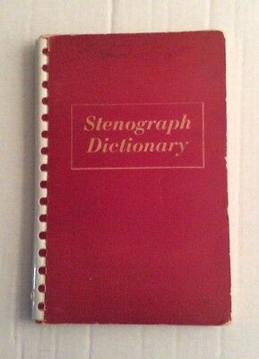 Stenograph Dictionary Vintage 1949 Used By Stenographic Machines