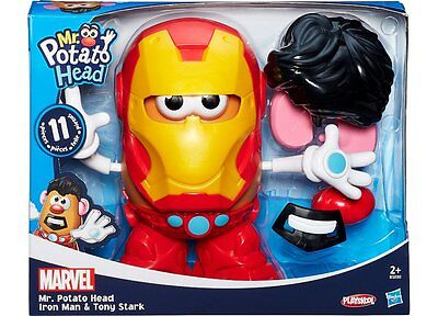 BNIP Mr Potato Head Iron Man Tony Stark Set Hasbro Avengers Ironman
