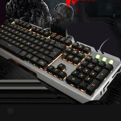 LED Illuminated Backlight Wired Mechanical Gaming Keyboard for Computer