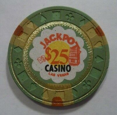 ✔ Jackpot Casino 25 Dollar Las Vegas Nv Poker Chip Obsolete Nevada Genuine
