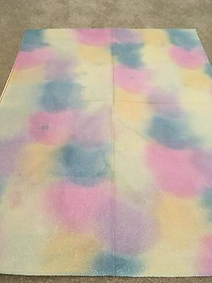 "Hand dyed opalescent 14 count aida - pink, yellow, purple & blue - ""Pixie Dust"""