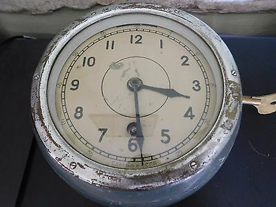 Vintage Russian Ussr Military / Navy Wind Up Wall Clock