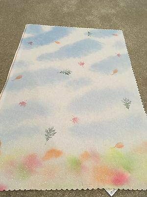 Hand painted opalescent 14 count aida - Walk in the Woods - sky and leaves