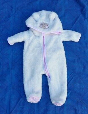 size 000 baby girl winter fluffy suit