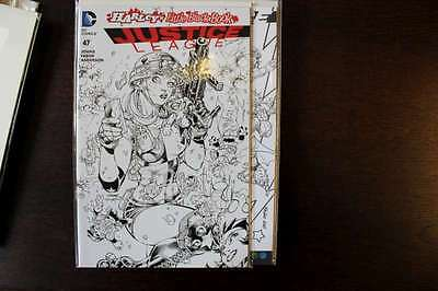 justice League #47 DC Comics 2016 Jim Lee B&W Inks Variant Cover
