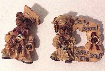 Lot of 2 Boyds Bears Bearware Pins Graduation Bears RETIRED