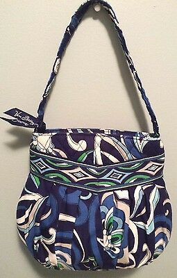 Vera Bradley Hannah Mediterranean Blue Small Children's Purse Retired Print EUC
