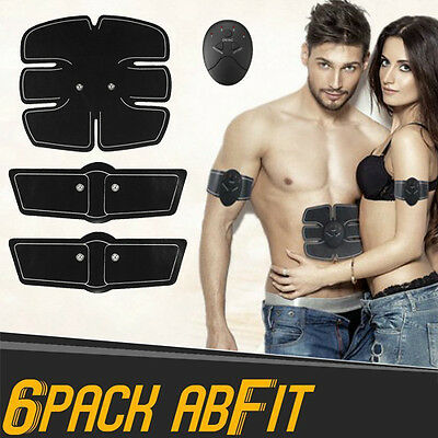 AbFit 6 Pack Abs Gym Belt Abdominal Toner Fitness Workout Stomach Muscle Toning