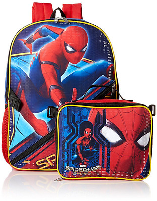 Backpack Spiderman Marvel Bag With Lunch Box Bag For Kids Back To School 2018