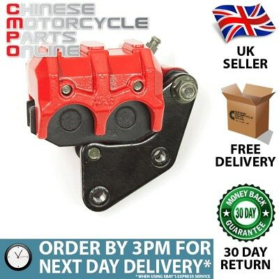 Red Front Brake Caliper Twin Pot for Lexmoto FMR 50 WY50QT-58R (BKCPF043)