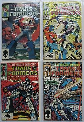 The Transformers Vol. 1 2 3 & 4 Complete Limited Series Marvel Comic Book 1984
